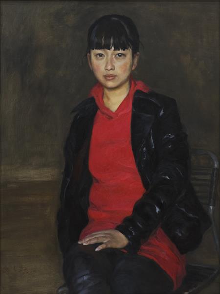 郝米嘉 北京姑娘 布面·油彩
